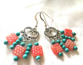 earrings hippie heart