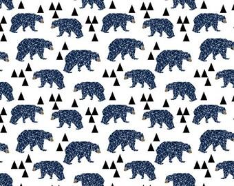 Crib Sheet Geometric Bears Navy. Fitted Crib Sheet. Baby Bedding. Crib Bedding. Minky Crib Sheet. Crib Sheets. Bear Crib Sheet.