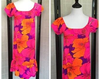 Vintage girls Hawaiin Maxi Dress