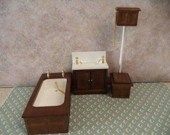 1:12 scale Dollhouse Miniature Victorian Bathroom Set