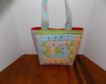 Quilted Tote bag; Shoulder Bag; Handbag; Ready to Ship