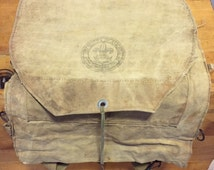 Vintage 1930s Boy Scouts of America National Council New York City Canvas Haversack/Backpack
