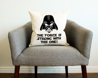 Star Wars Darth Vader Force Pillow - Gift for Him, Father's Day Gift, Gift for Dad, Star Wars Kids Decor, Star Wars Funny Gift