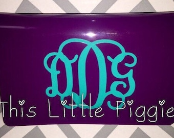Monogrammed Credit or Business Card Case