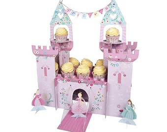 CLEARANCE! -- I'm A Princess Castle Large Cupcake Stand and Table Centerpiece