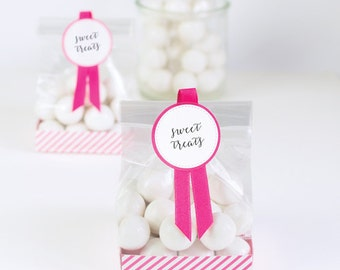 CLEARANCE! Hot Pink Treat Bags (12 Count)