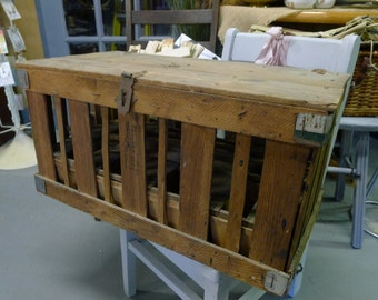 Berry farm crate with metal corners