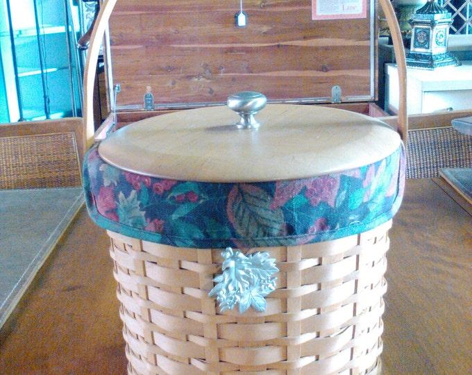 Longaberger Ice Bucket Basket
