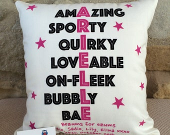 Name in Words, Word Art Cushion