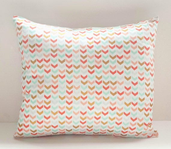 Gold Decorative Pillow Covers : Decorative Pillow Cover Gold and Mint by DomesticatedEngineer