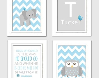 Elephant nursery decorations, blue and gray nursery decor, Elephant Baby shower, blue and Gray Nursery, Choose your colors