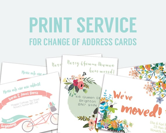 Genius image inside printable change of address cards