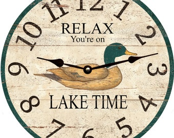 Lake Time Clock- Relax Lake Time Clock