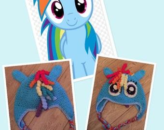 Rainbow Dash Crochet hat