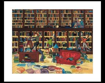 Book Lover, Book Worm, Teacher Appreciation, Librarian, Gift for Lawyer, Learning Inspiration, Geek, Children's Room, Wall Art, Wall Decor