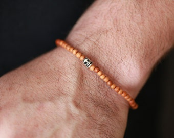 Sandalwood - Mens SKULL Bracelet - Skull Jewelry