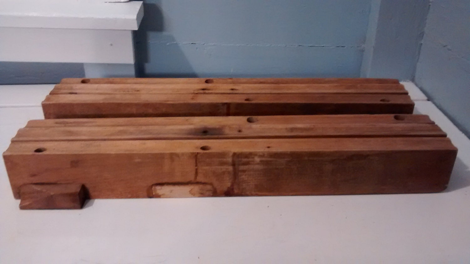 Wood Dining Chair Replacement Parts ~ Antique table extension slides wood furniture