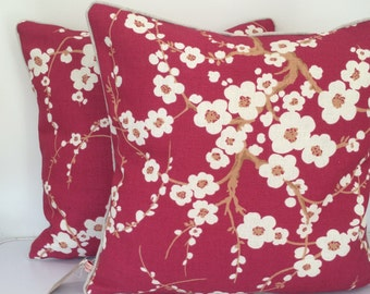 Cushion/pillow cover - Laura Ashley's Lori in cranberry colour