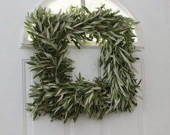 "Olive Branch Wreath - 18 "" Squared"