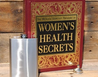 Hollow Book Safe & Secret Flask - Woman's Health Secrets - Extra Storage