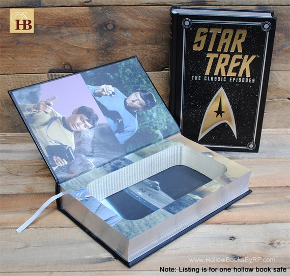 Book Safe - Star Trek The Classic Episodes - Leather Bound Hollow Book Safe