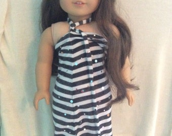 BTS SALE!! American Girl Doll Black & White Dress