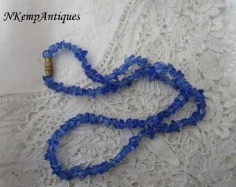 Vintage necklace glass