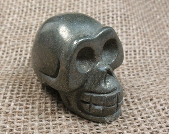 Pyrite Skull Carving - 1.9 inches - Item 73757