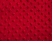 Red Dimple Dot Minky Fabric, Sold by the Yard 6013