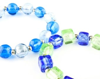CORALLIA'S Bracelets - venetian glass