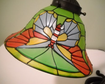 Large Gooseneck Lamp with Butterfly Shade
