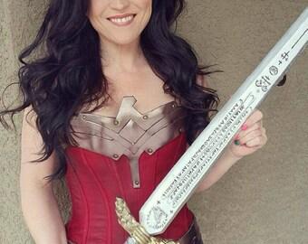 WONDER WOMAN SWORD - Dawn of Justice inspired wood sword