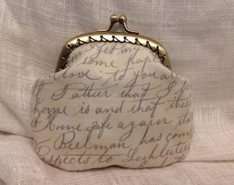 Written Letter Coin Purse