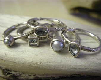Topaz Stackable rings