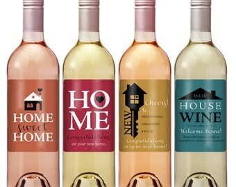 Real estate logo real estate gift real estate agent real for Best wine for housewarming gift