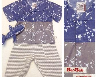 Organic Baby Boy Set Shirt + Trouser