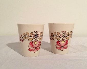 Pair of Hungarian Juice Cups