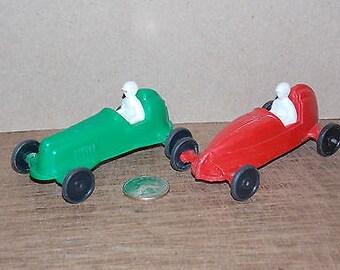 Pair of Vintage Plastic Race Cars