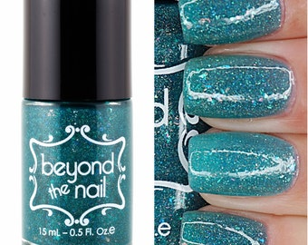 Oh Snap - Holographic Teal Jelly Polish with Flakies