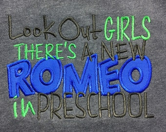 Preschool Romeo Boys Shirt, A Prissy Stitch