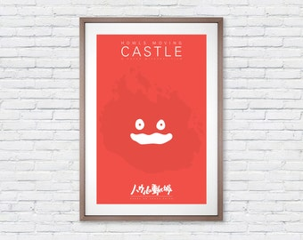 Howls Moving Castle - Calcifer - Movie Poster Print