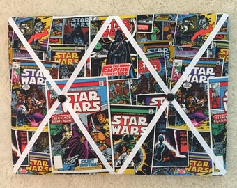 "Star Wars memory board, Photo memory board, 12"" x 16"" memory board, Kids memory board"