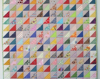 Rainbow Patchwork Modern Traditional Quilt