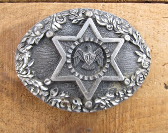 Vintage Eagle Belt Buckle - Sheriff Belt Buckle - EGE Belt Buckle
