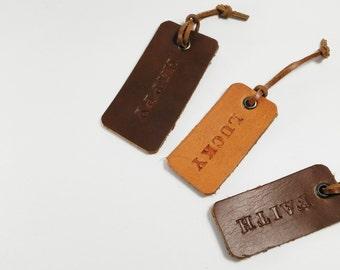 Mr Mrs Luggage Tag, His Her Tag, Leather Luggage Tag, Monogram Luggage Tag, Personalized Bag Tag, Custom Tag, Luggage Tag, Newlywed Gfit