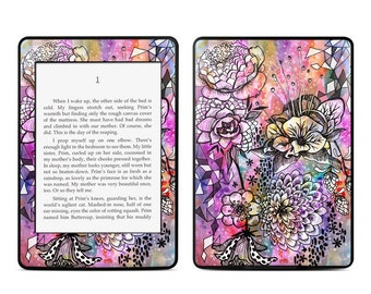 Amazon Kindle Skin - Hot House Flowers by Stephanie Corfee Artworks - Sticker Decal - Fits Paperwhite, Fire, Voyage, Touch, Oasis