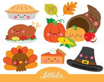 Thanksgiving kawaii - thanksgiving clipart - 16091