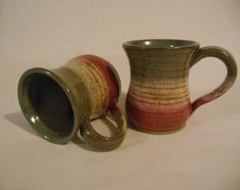 Mugs in Sage, Cream and Cedar
