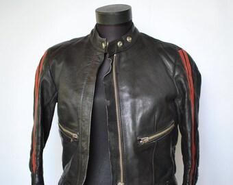 Vintage LEATHER JACKET , women's leather jacket , moto jacket .....(146)
