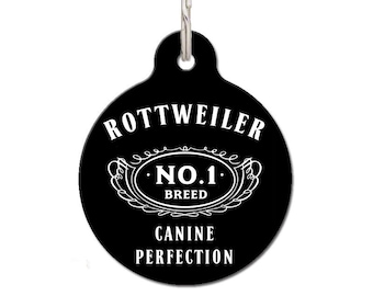 Rottweiler Breed Dog ID Tag | FREE Personalization